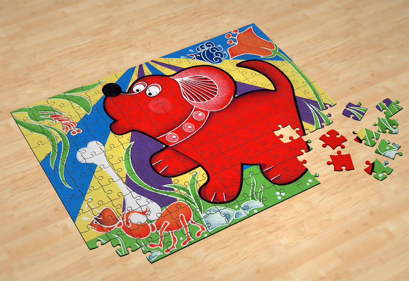 Particolare del puzzle