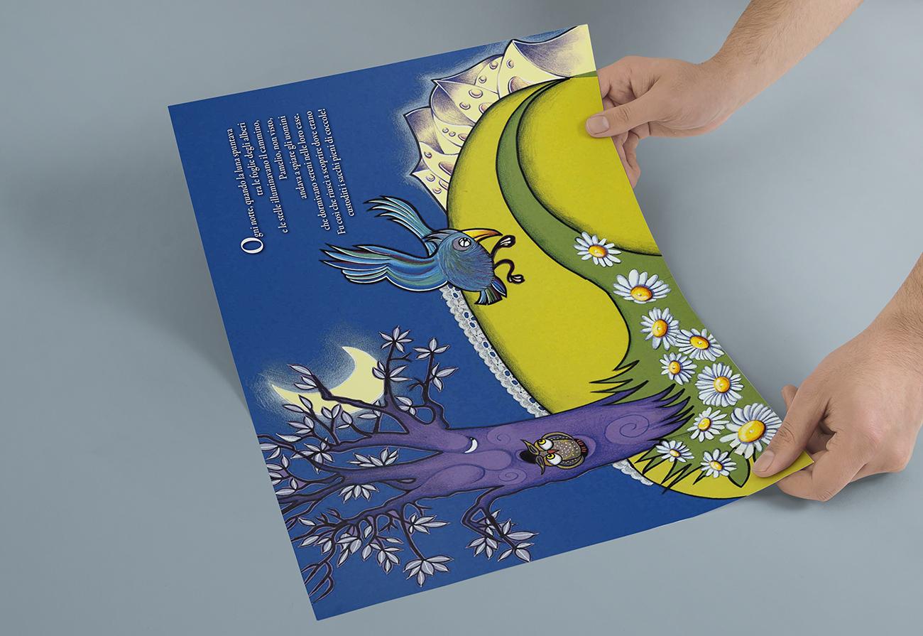Illustrazione interna realizzata con tecnica collage