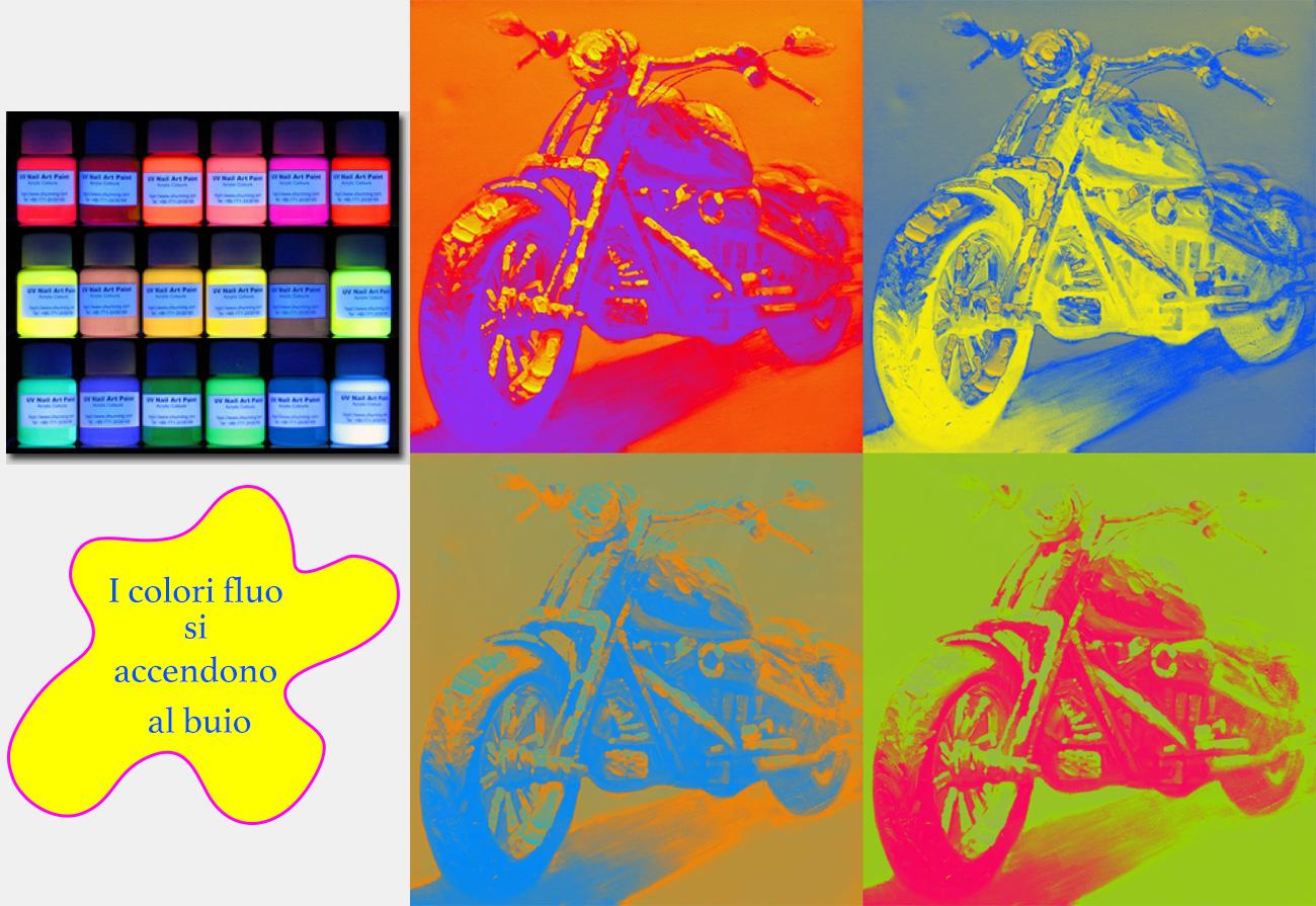 Disegno pop con colori fluo