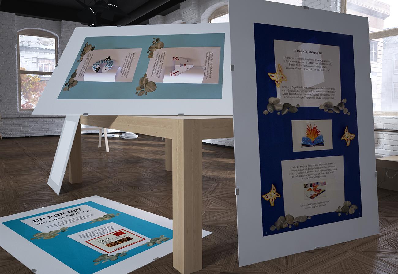 Pannelli esplicativi creati appositamente per la mostra