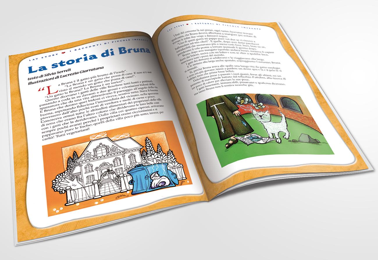 Illustrazioni per il racconto La storia di Bruna pubblicata sulla rivista