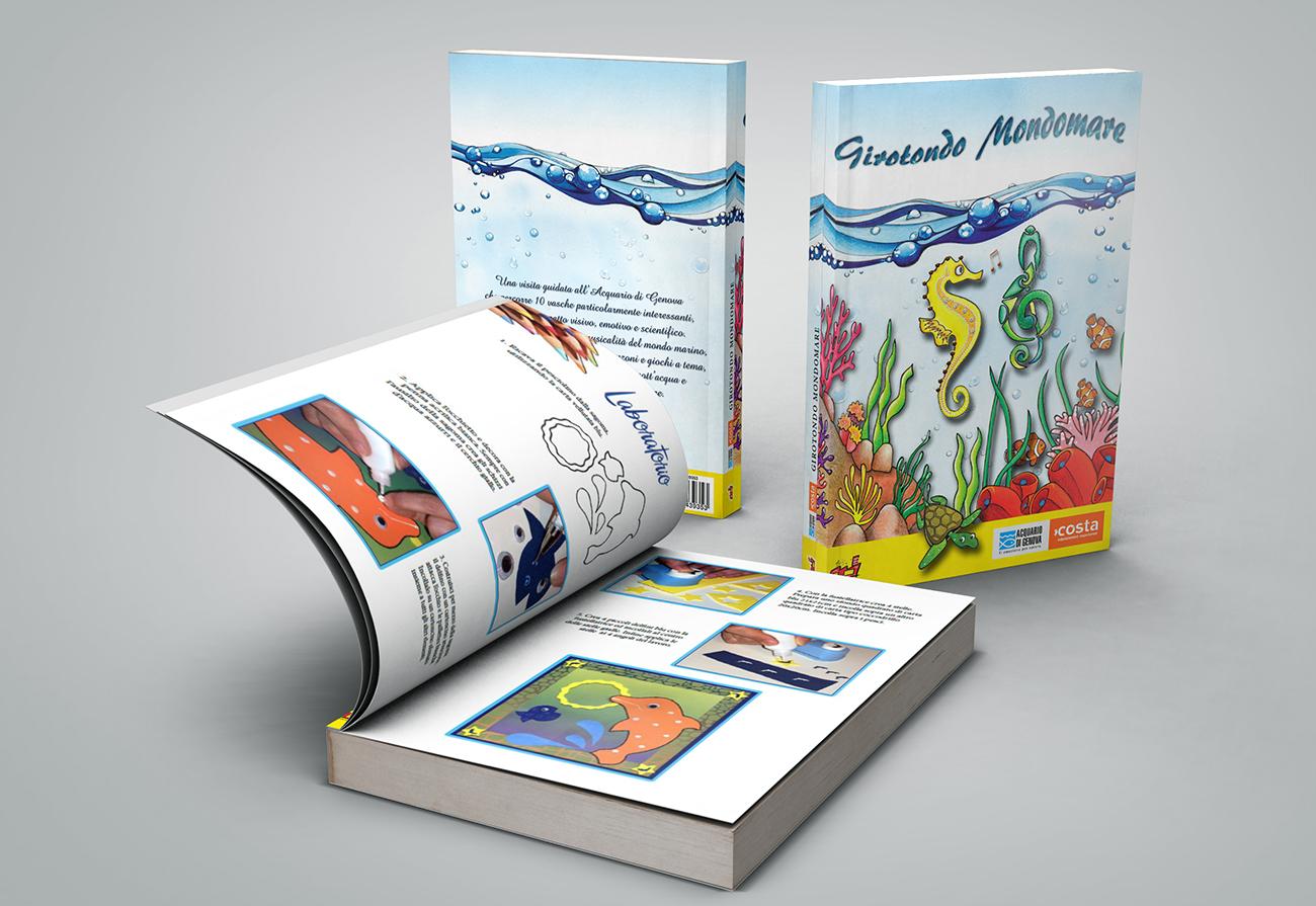 Cover e libro aperto su laboratorio creativo