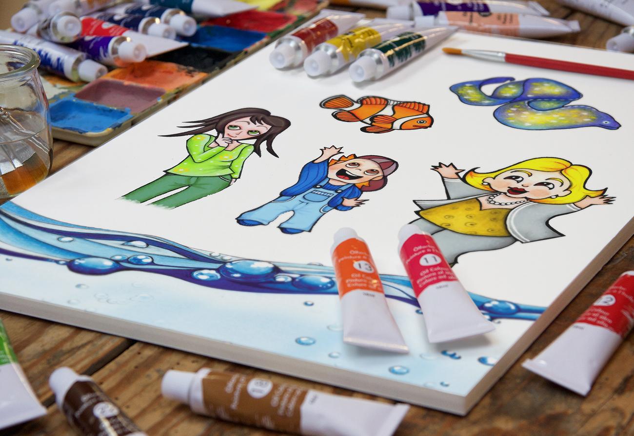 Creazione a colori dei personaggi