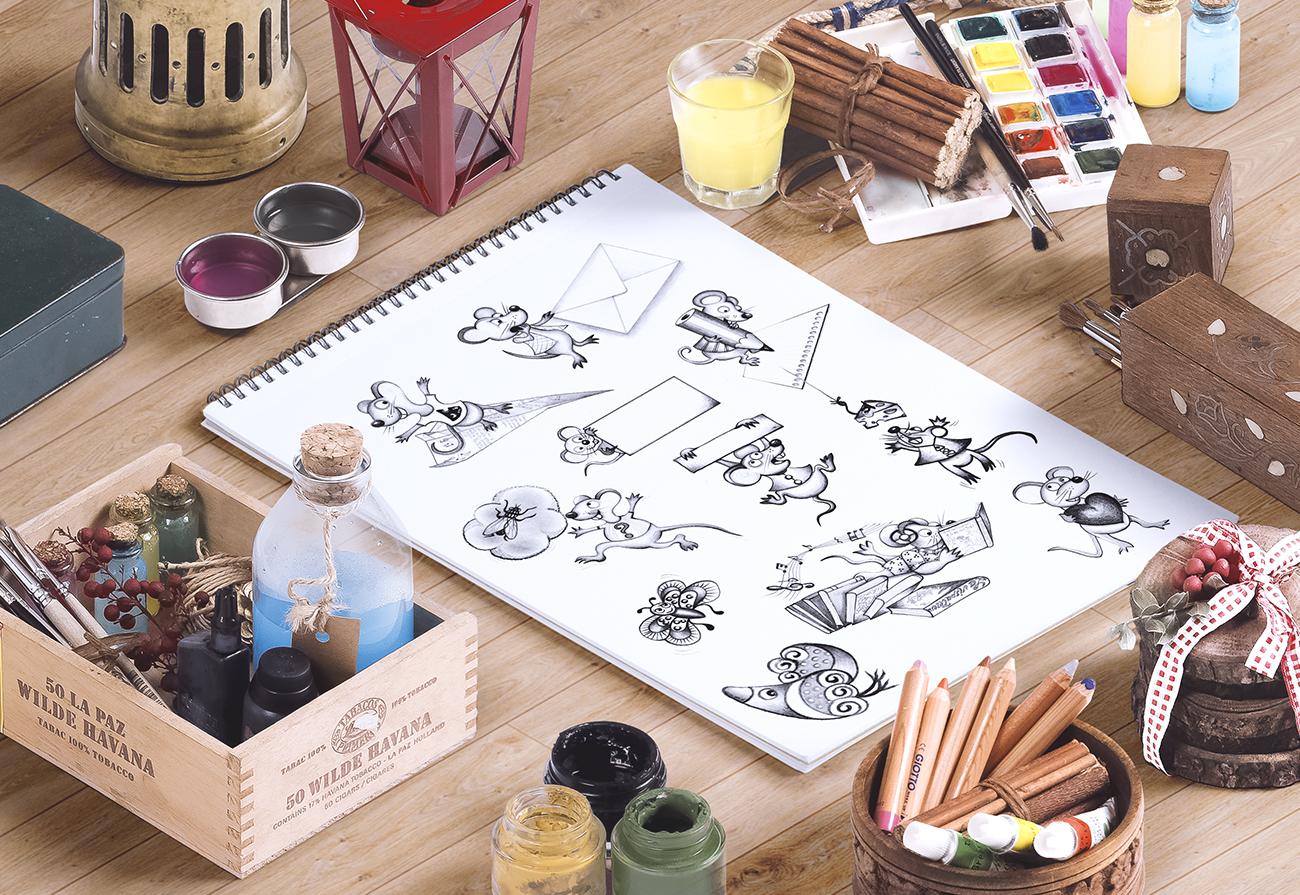 Disegni realizzati a matita al tratto