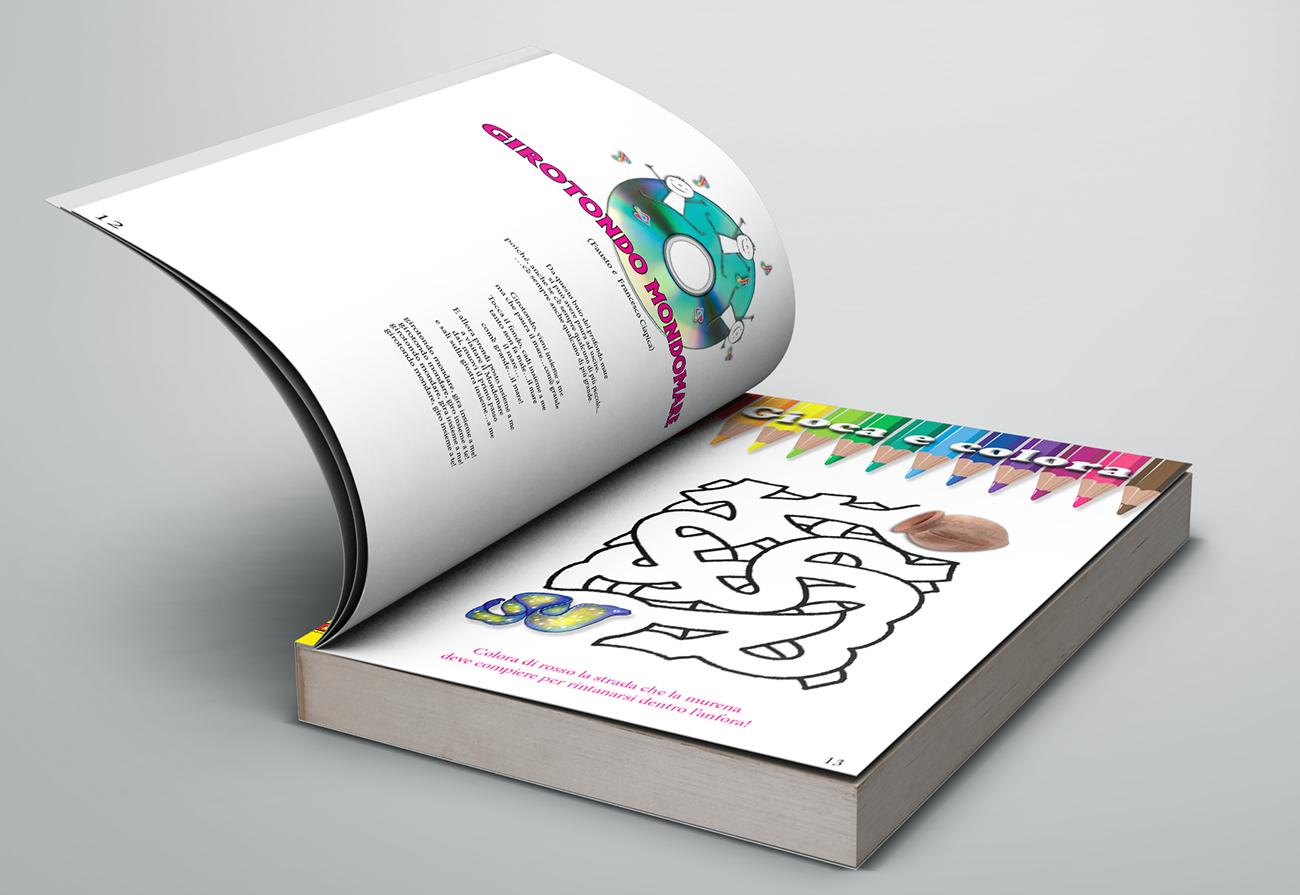 Libro aperto su testo canzone e gioco