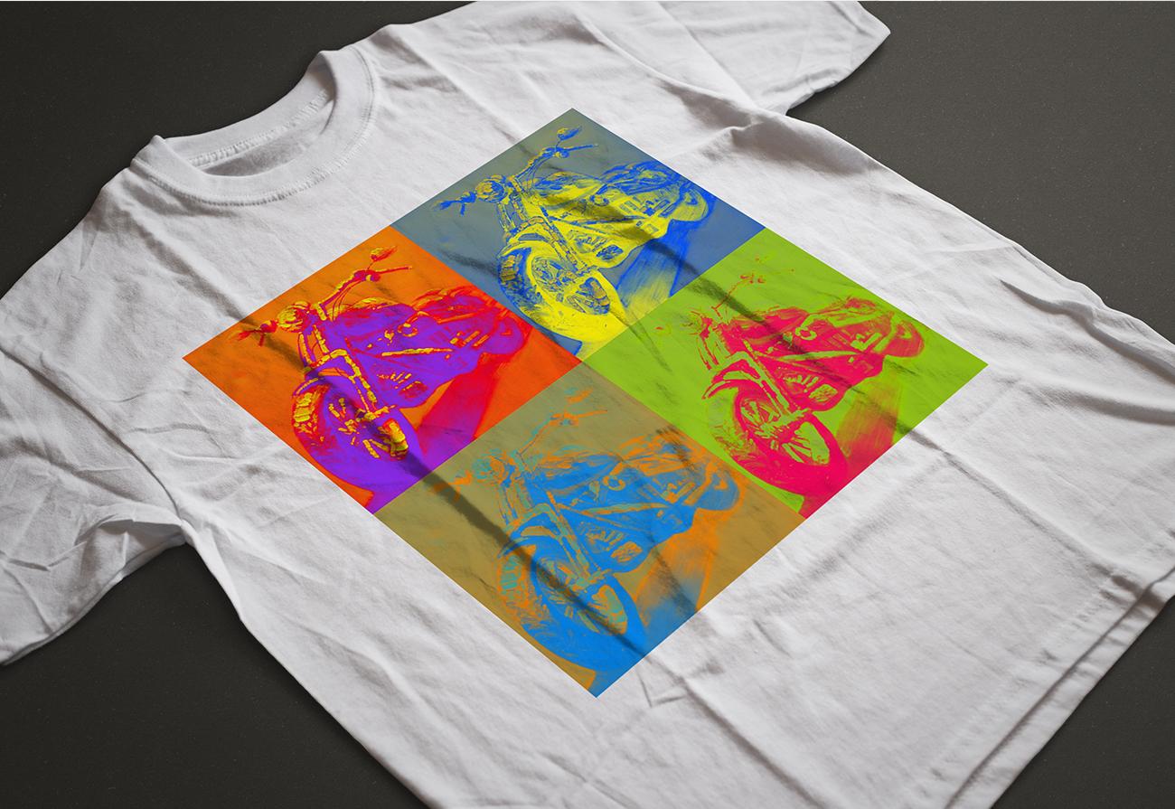 Maglietta pop colori fluo