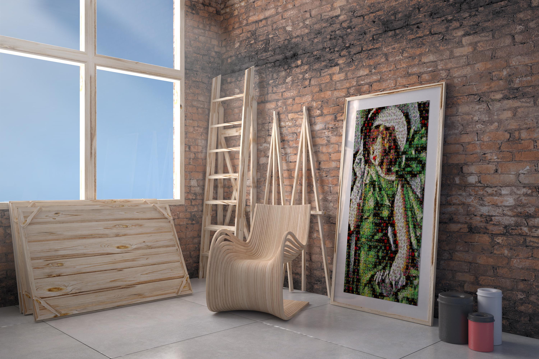 Foto mosaico quadro Tamara de Lempicka
