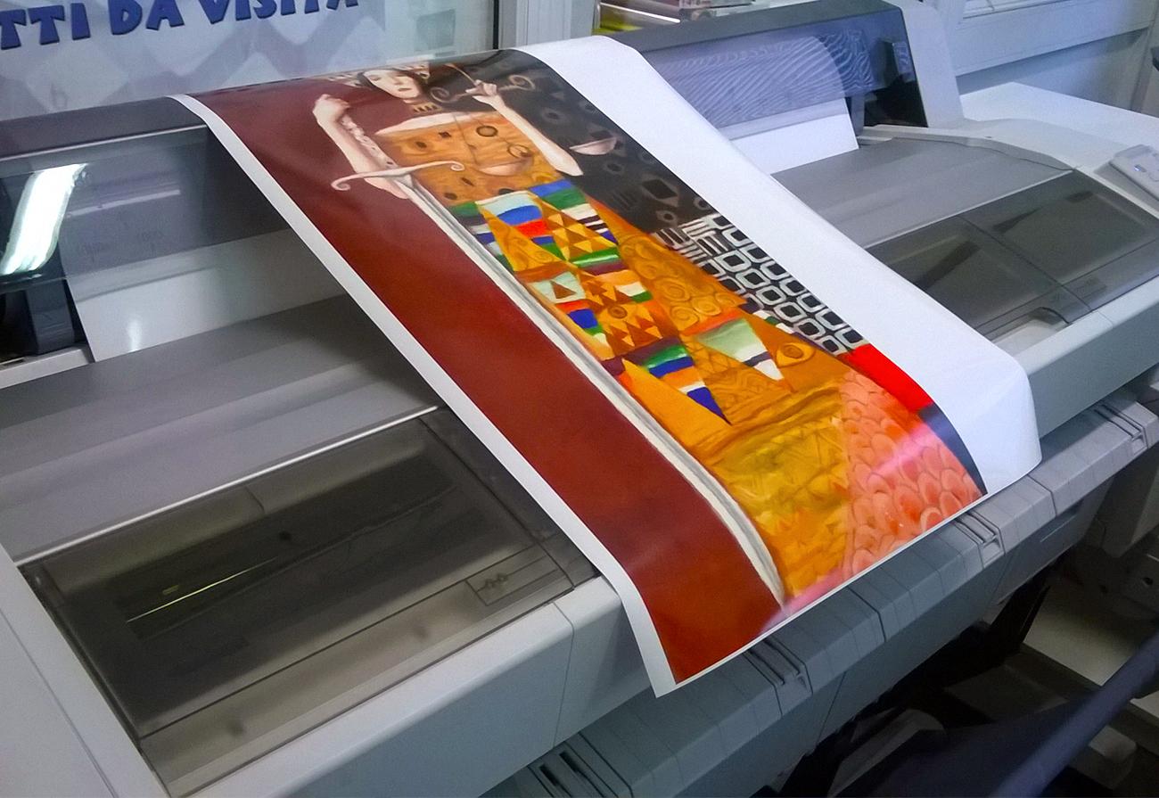 Stampa plotter su carta fotografica