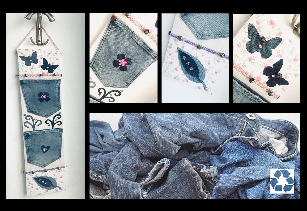 riciclo creativo vecchi jeans